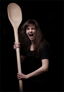 Woman with a Spoon. Photo by Mark Feenstra