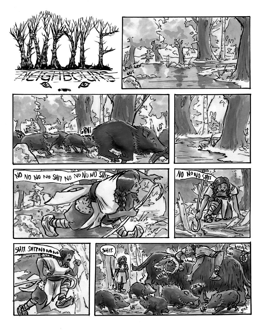 Wolf Neighbours Chapter 1 Page 1