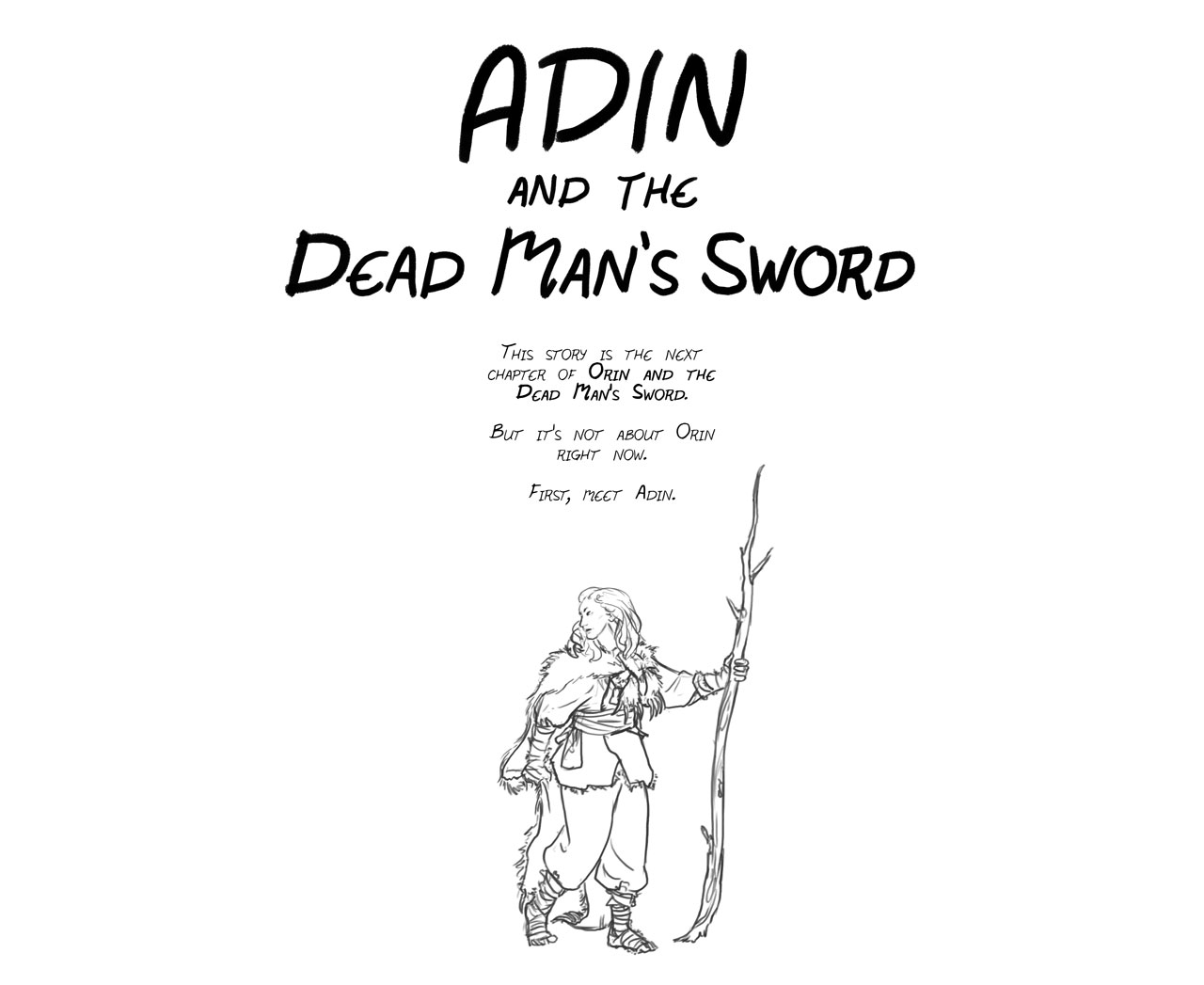 Adin and the Dead Man's Sword – Cover