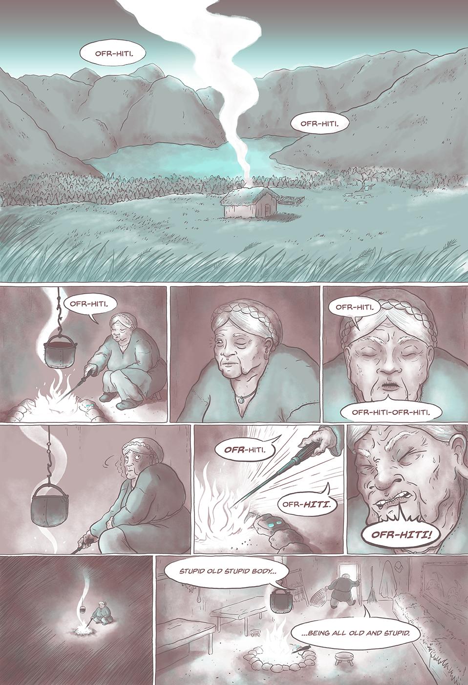 Linen, Leeks and Blood pg1