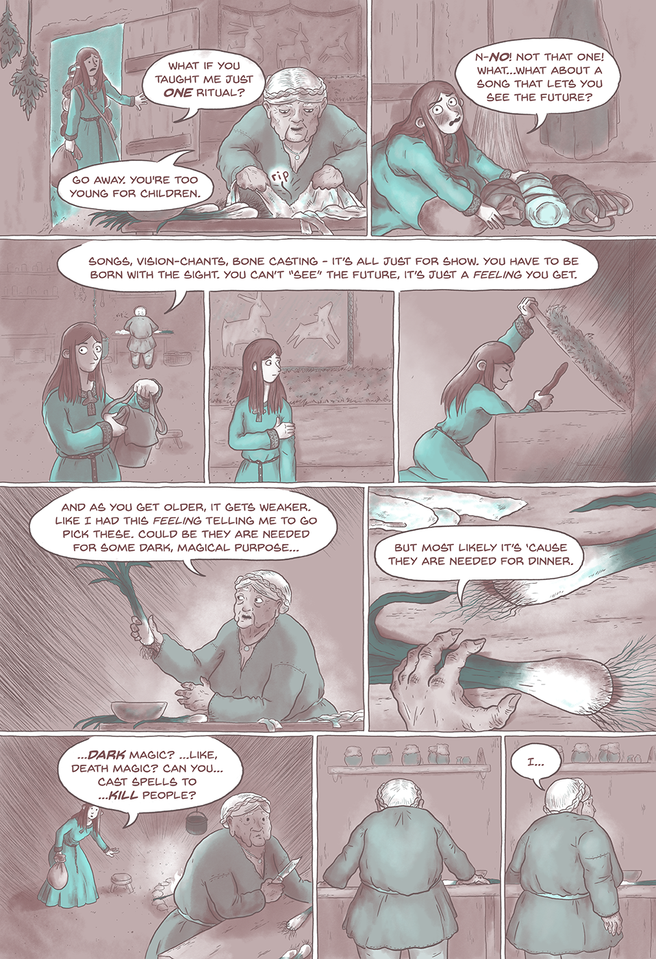 Linen, Leeks and Blood pg4